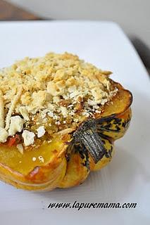 Quinoa Sunflower Stuffed Squash | food and booze | Pinterest