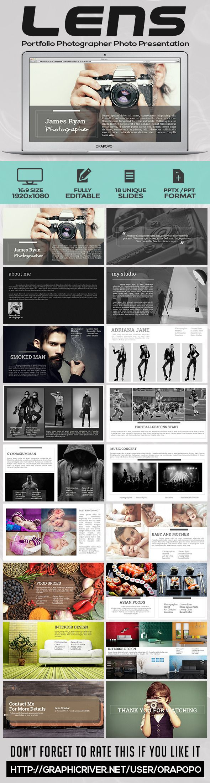 Lens Portfolio Photographer Photo Presentation PowerPoint #slides Download: http://graphicriver.net/item/lens-portfolio-photographer-photo-presentation/11262034?ref=ksioks
