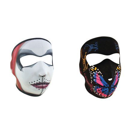 Zan Headgear Value Bundle consisting of 1 ZanHeadgear 'Dr. Q' Full Face Neoprene Face Mask -AND- 1 Zan, Highway Honey, 'Butterfly Mouth' Full Face Neoprene Face Mask with Rhinestones , Ski Mask -   Price:  .rTable display: table; width: 620px; font-family: Helvetica; font-weight: normal; cont-color: #CBCBCB; Font-size: 11px;.TR1 display: table-row; background-color: #D2EBED;.TR2 display: table-row;.TC1 {display: table-cell; width: 225px; padding: 9px 30px; border: 0px solid #