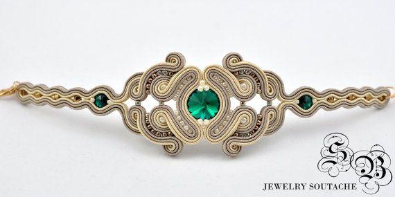 Set of bracelet and earringsSoutache by SBjewerlySoutache on Etsy