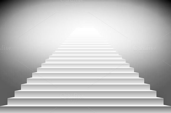 illustration of white stairs, eps10 by Rommeo79 on @creativemarket
