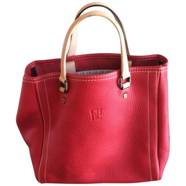Pre-owned Carolina Herrera Red Satchel ($690) ❤ liked on Polyvore featuring bags, handbags, red, red purse, carolina herrera handbags, red leather satchel, satchel purse and leather handbags