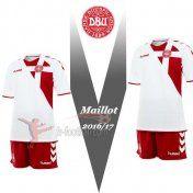 Fr-Football: Nouveau Maillot Foot Equipe De Danemark Exterieur Rouge 2016-2017 Personnalise En Ligne