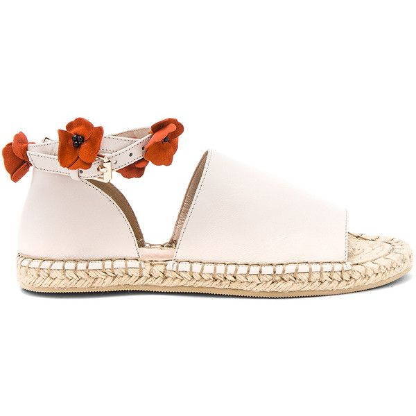 RAYE Daphne Espadrille (€165) ❤ liked on Polyvore featuring shoes, sandals, wrap shoes, espadrille sandals, suede leather shoes, leather upper shoes and floral pattern shoes