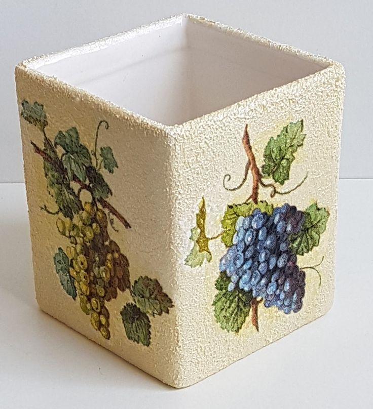 Trauben, Grapes, Serviettentechnik