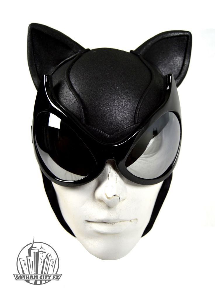 Batman Cat Woman Arkham City Cowl with Mirrored Cat Goggles by GCFX on Etsy https://www.etsy.com/listing/196494345/batman-cat-woman-arkham-city-cowl-with