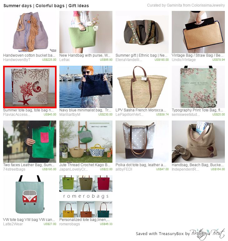 Summer days | Colorful bags | Gift Ideas