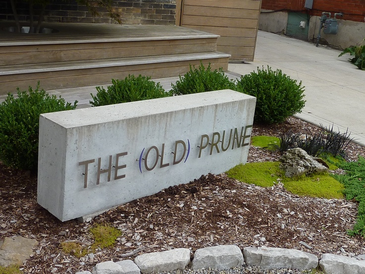 New sign at the Prune! Stratford, Ontario