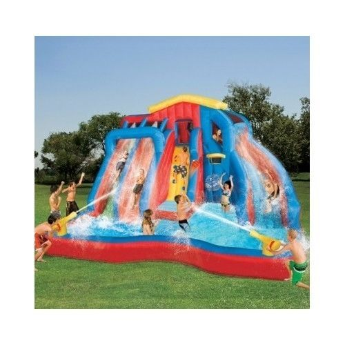 water slide inflatable outdoor toys structures bouncer waterside kids