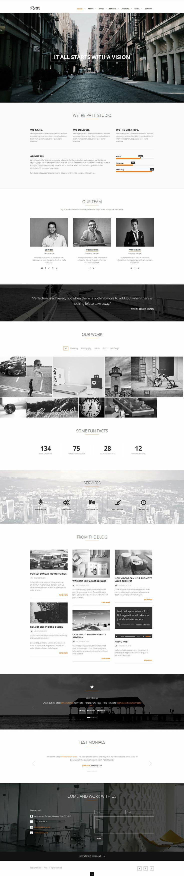 Patti - Parallax One Page HTML Template by DarkStaLkeRR.devi... on @deviantART