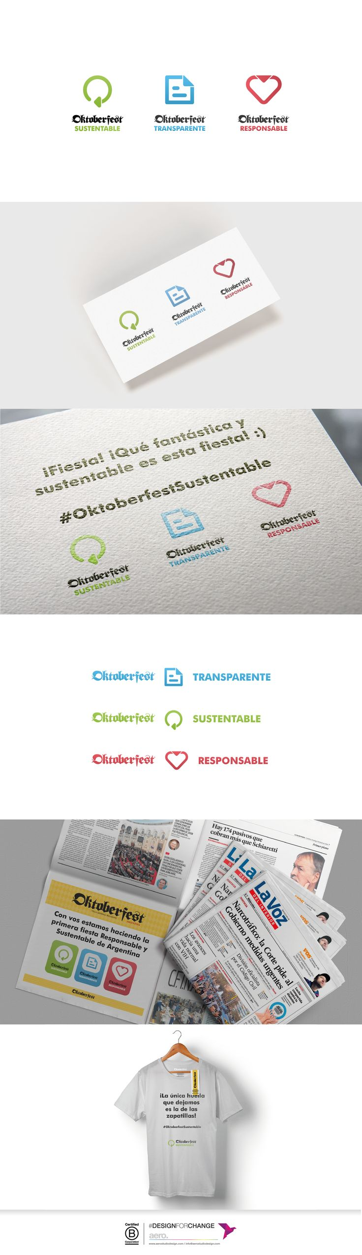 Comunicación gráfica para el área sustentable del evento en Villa Gral. Belgrano, Córdoba, Argentina.