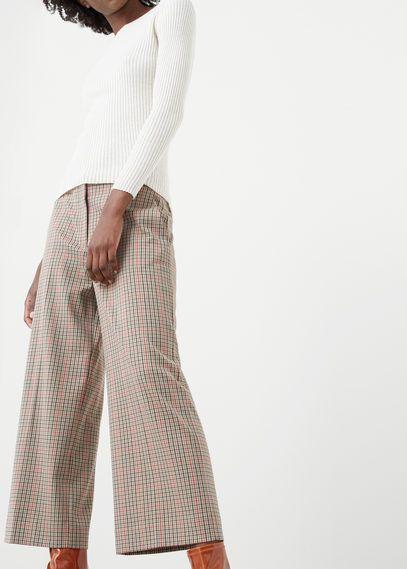 Клетчатые брюки хлопок
