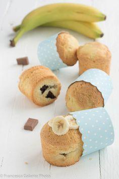 Muffin banana e cioccolato morbidissimi