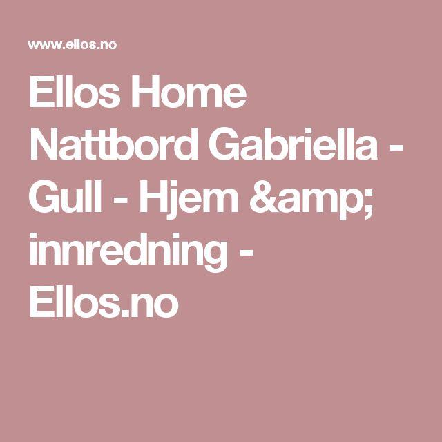 Ellos Home Nattbord Gabriella - Gull - Hjem & innredning - Ellos.no