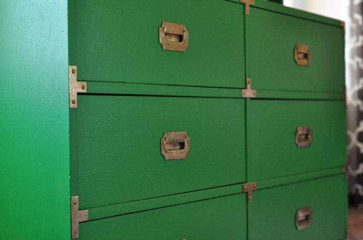Decor Sanity: Envy Green Sherwin Williams Campaign Dresser