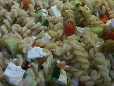 Zomers: Griekse pasta salade