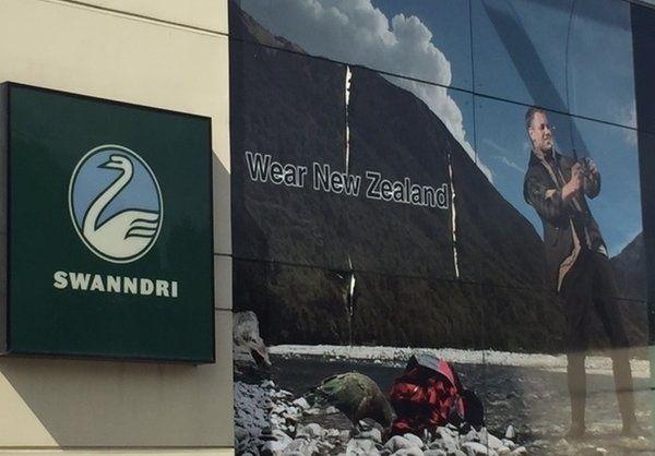swanndri billboard