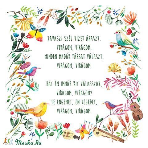 Virágom, virágom - Print, Képzőművészet , Dekoráció, Magyar motívumokkal, Illusztráció, Meska