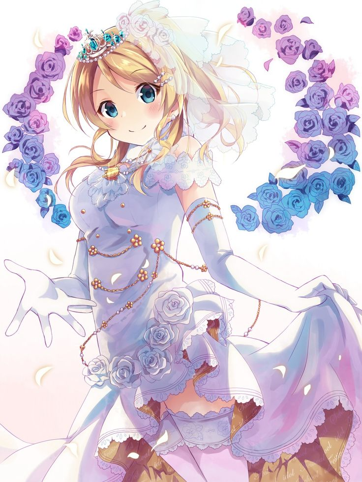 Ayase Eli | Love Live | ♠ anime ♠ | Pinterest | Wedding ...