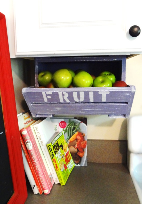 FRUIT Bin  Urban California Chic: Under Cabinets Storage, Kitchens Chic, Cabinets Cabneat, Closet Pantries, Chic Fruit, Baby Rooms, Kitchens Storage, Offices Supplies, Cabneat Crates