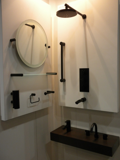 Photo Album Gallery he all black Xenon bathroom collection by Samuel Heath stopped many a passerby