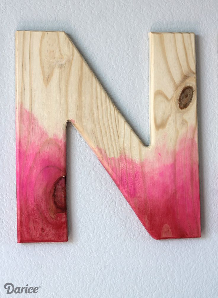 DIY-watercolor-wood-letters-Darice could do this with the babies name on the wall