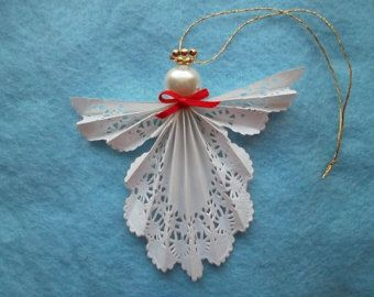 Paper Doily Angel Ornament