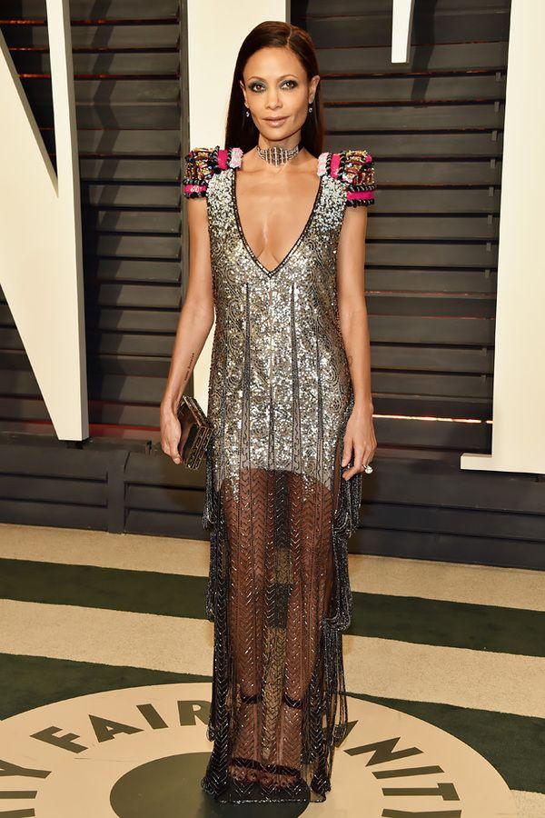 Thandie Newton in Schiaparelli Couture at Vanity Fair 2017, Тэнди Ньютон в Schiaparelli Couture Vanity Fair 2017