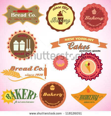 Vintage set of retro bakery - badges and labels, vector illustration. Collection of vintage retro grunge food labels, badges and icons. Logo Symbols - stock vector