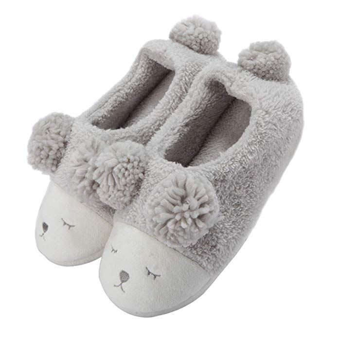 Warm Indoor Slippers Women Fleece Plush