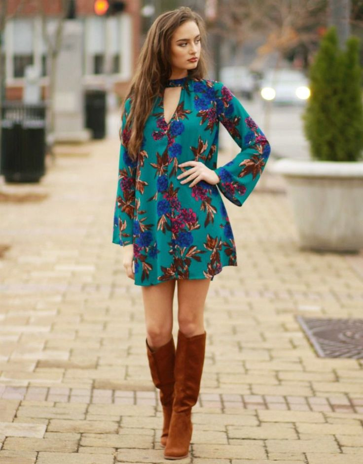 Floral Keyhole Dress from Cousin Couture.