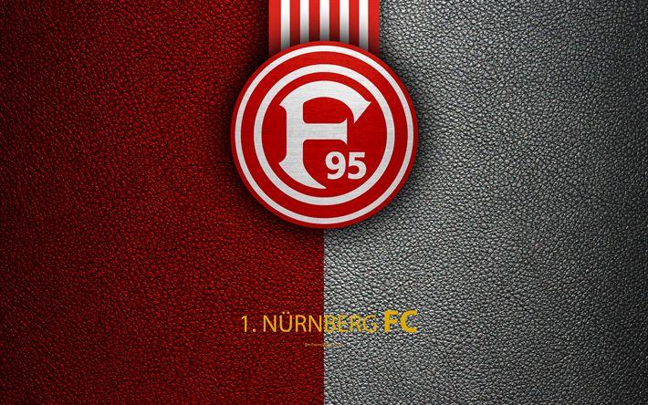 تحميل خلفيات FC Nürnberg, 4K, جلدية الملمس, الألماني لكرة القدم, شعار, نورمبرغ, ألمانيا, الدوري الالماني 2, الدرجة الثانية, كرة القدم