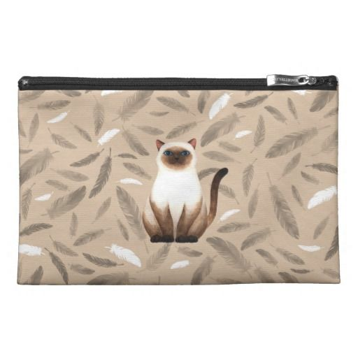 Siam cat Travel Accessory Bag