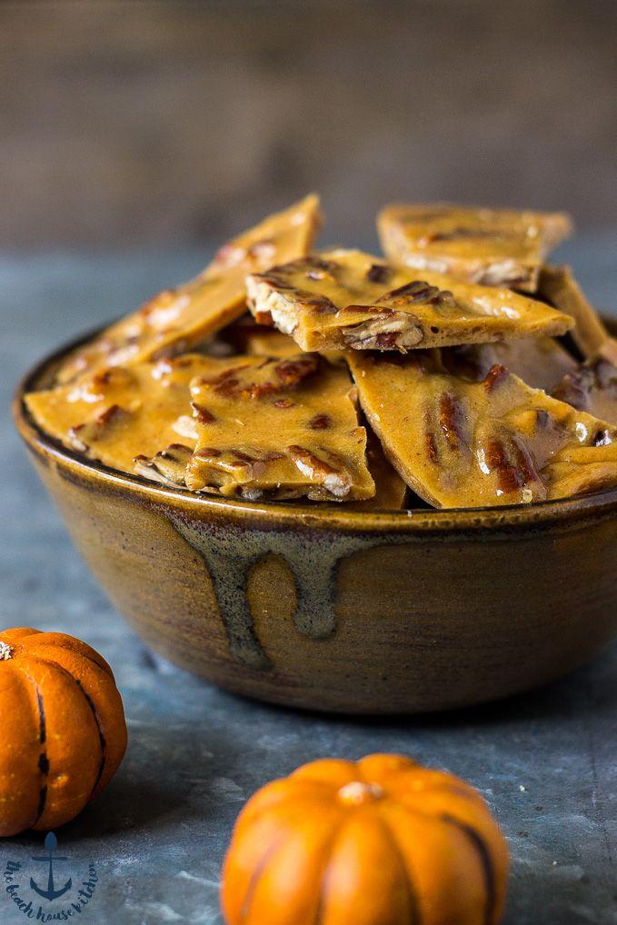 Pumpkin Spice Pecan Brittle | The Beach House Kitchen