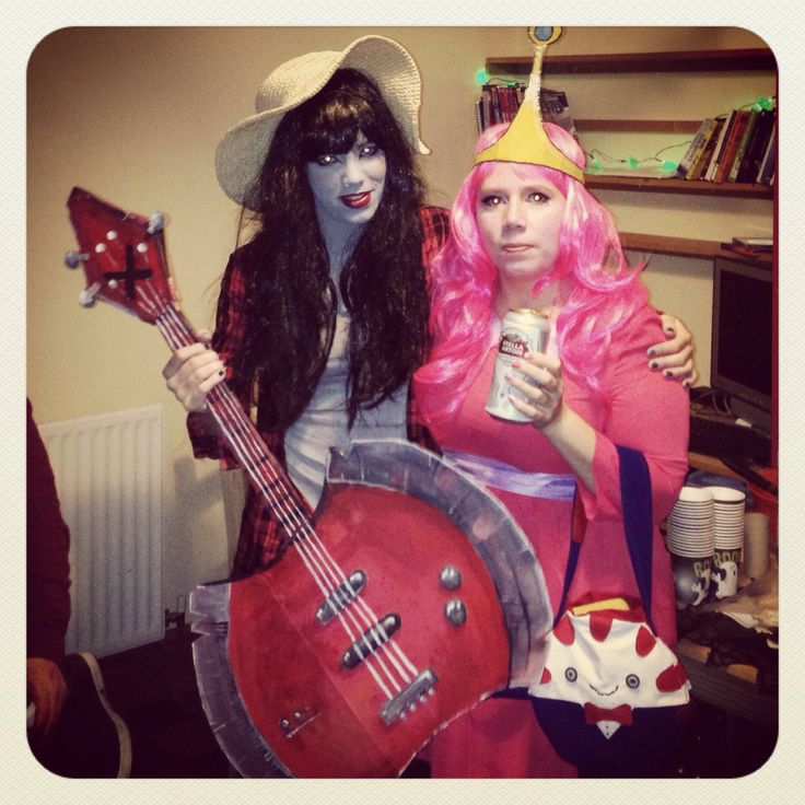 Me as Marceline & Mum as Princess Bubblegum!