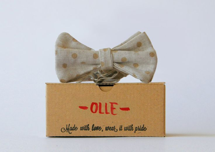 Olle is a great start if you just enter the addictive world of bow ties.