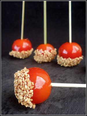 Chic, chic, chocolat...: Tomates d'amour au sésame