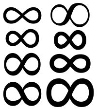 The infinity symbol \infty (sometimes called the lemniscate) is a mathematical symbol representing the concept of infinity.