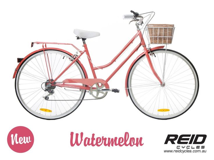 Reid vintage ladies bike in watermelon. Love the colour and the basket