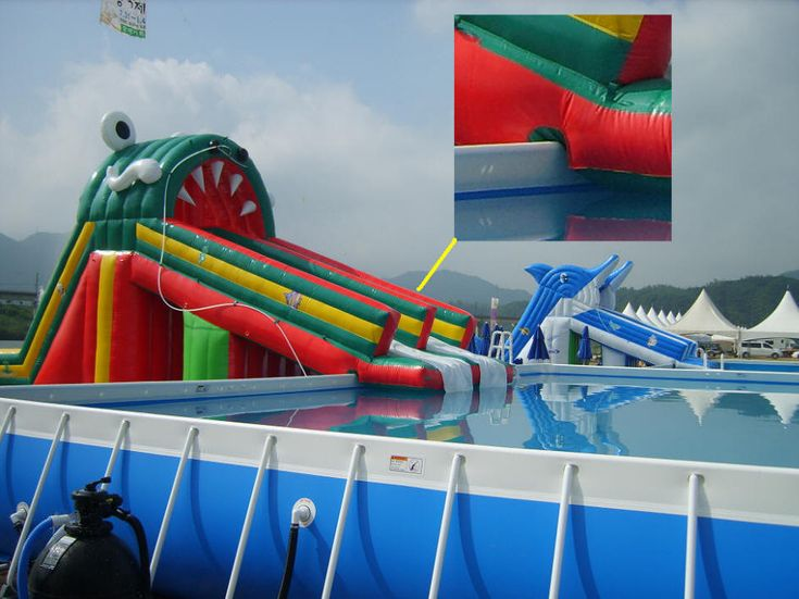 inflatable pool slides and toys - Diy Above Ground Pool Slide