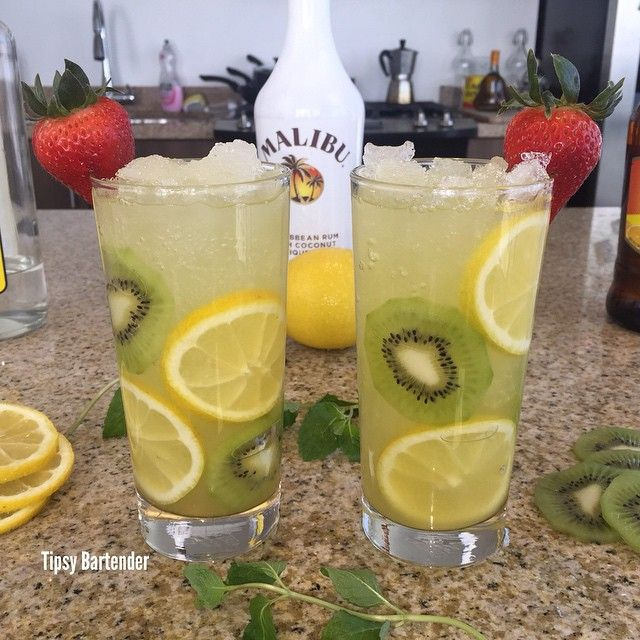 The Breeze 1 oz Rum 1/2 oz Triple Sec 1/2 oz 99 Bananas 1/2 oz Sweet and Sour Top with Pineapple Juice