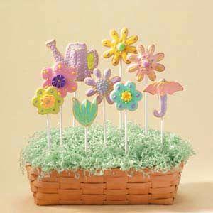Cute way to display Spring/Easter cookies