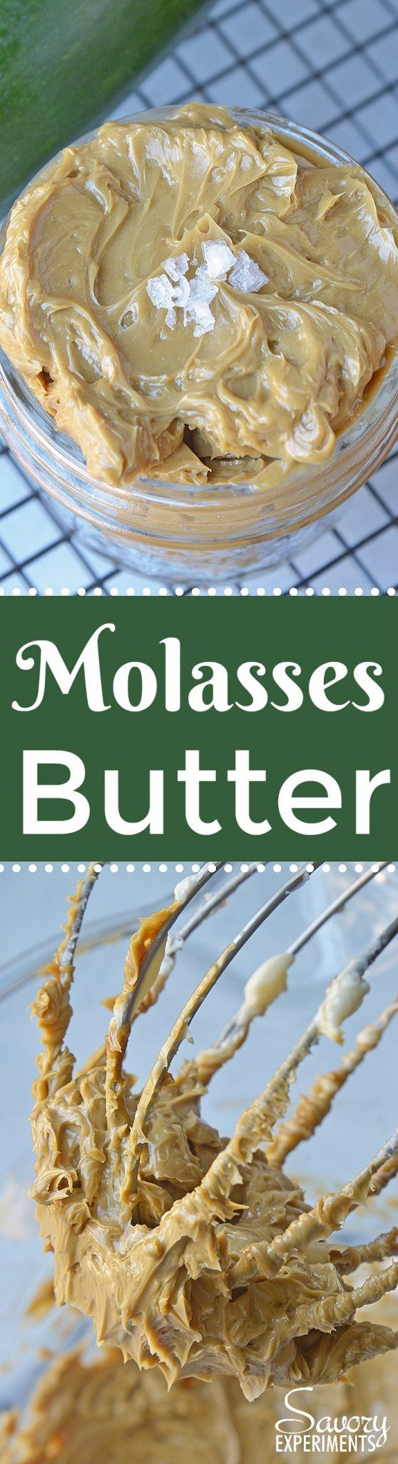 Molasses Butter is the blend of butter, molasses and one secret ingreidnet that will never guess until see the recipe! Served best on fresh zucchini bread! #homemadebutter #flavoredbutter www.savoryexperiments.com  via @savorycooking
