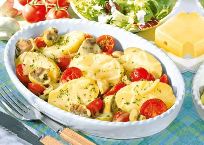 Überbackene Kartoffeln -