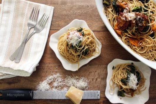 Kale Pasta with Burst Tomato Sauce | Food | Pinterest