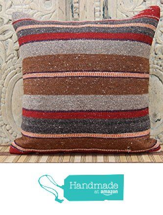 Natural kilim pillow cover 16x16 Rustic Kilim pillow cover Decorative Kilim Pillow cover Boho Kilim Pillow Cover Turkish Handmade Kilim Pillow Cover from Kilimwarehouse http://www.amazon.com/dp/B0198BVXPW/ref=hnd_sw_r_pi_dp_prsCwb0W5ADJ1 #handmadeatamazon