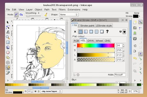 Line Drawing Gimp : Tutorial how to make colour vector illustrations from