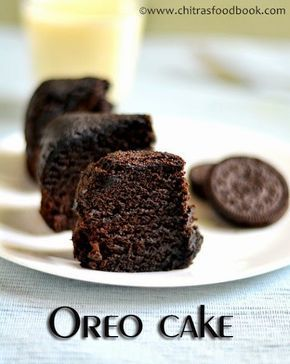 5 Min Eggless microwave oreo biscuit cake