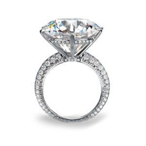 Chopard ring. Haute Joaillerie ,15 Carat with 150 accent diamonds.