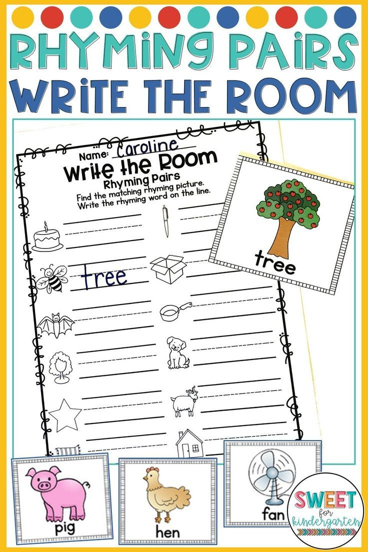 Are Your Students Learning How To Rhyme Use This Write The Room Activity To Practice Finding Rhyming Wor Rhyming Words Rhyming Kindergarten Rhyming Activities